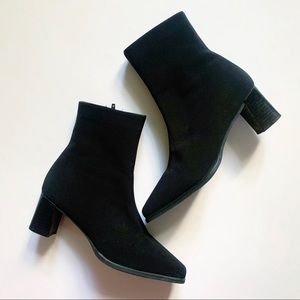 Stuart Weitzman• short black goore ankle boots